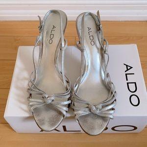 ALDO Silver Strappy Sandals